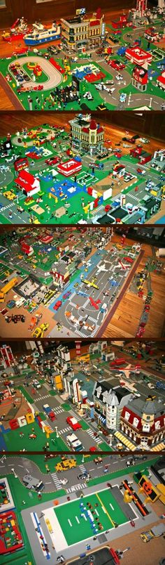 Check out this one of a kind LEGO city that has been a labor of love since it started being built over 30 years ago! Measuring almost 100 square feet, it has hundreds of mini-figures, and contains original creations such as a High School Football field, Bowling Alley, and even a Snowboard shop and half-pipe! You will never see another collection quite like this..