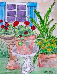"Marcy Brennan (Born 1951), ""Geranium Happiness"""