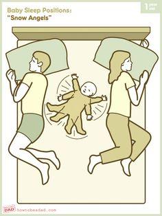 "@Melissa Layton! Isn't that how you describe Kalli?                   Baby Sleep Positions: ""Snow Angels"""