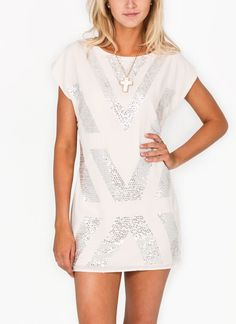 sequined chiffon dress-would look great with velvet leggings and booties