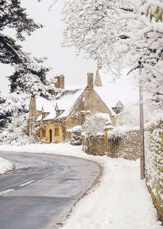 A lovely home: You have to love an English country cottage covered in snow in the winter.