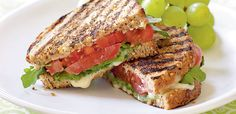 Grilled Tomato and Brie Sandwiches Vegetarian Recipe - there are a bunch of vegetarian sandwich recipes at this site that sound wonderful for light summer eating