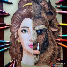 Les compartimos esta genial #ilustracion de #labellaylabestia por la artista @dada16808