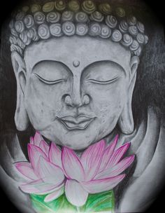 """Buddha Lotus Zen Art Gift 11x14"""" $33 comment for more info (payment via paypal)"""
