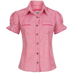 Amazing offer on Gaudi-leathers Ronda Bavarian Oktoberfest Short Sleeve Checkered Diffrent Colors online - Blouse Styles, Blouse Designs, Cute Shirts, Casual Shirts, Como Fazer Short, Evening Blouses, Gaudi, Shirt Blouses, Blouses For Women