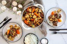 Gebruik jou drukkoker om hierdie gereg te maak. Stuffed Shells, Stuffed Mushrooms, Our Daily Bread, Beef Steak, Chana Masala, Kos, South Africa, Meet, Treats