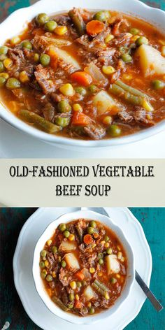My Mom's Old-Fashioned Vegetable Beef Soup is one of my all-time favorite soup recipes. It's super simple homemade vegetable beef soup recipe soup healthy recipes rezepte soup soup Beef Soup Crockpot, Beef Soup Recipes, Crockpot Recipes, Healthy Recipes, Simple Soup Recipes, Easy Beef Stew, Slow Cooker Soup, Beef Broth, Vegetable Soup Crock Pot