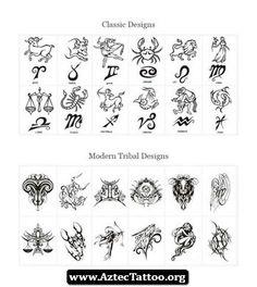 Aztec Zodiac Tattoo 01 - http://aztectattoo.org/aztec-zodiac-tattoo-01/