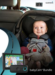 """New parents have plenty to think about when they're on the road with a baby onboard. That's why Garmin invented babyCam — an in-vehicle video baby monitor designed to give you an """"on demand"""" view of your baby, on your compatible Garmin navigation display."""