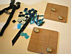 EarthMotherMosaics: How To Make 4 Inch Mosaic Coasters Using Various Tesserae - Part Three