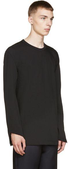 Comme des Garçons Homme Plus Black Asymmetric Sweatshirt