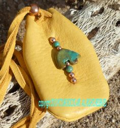 American Indian Amulet | Bear Medicine Bag Native American Turquoise amulet pouch ...