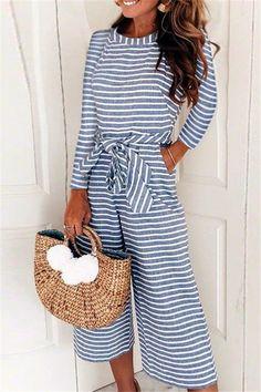 0a0c66aeb93a Elegant Sleeveless Striped Jumpsuit