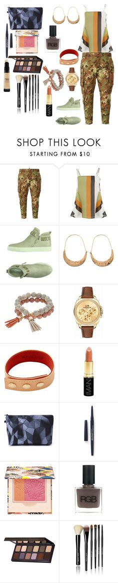 """Untitled #244"" by yasm-ina ❤ liked on Polyvore featuring Dsquared2, Finery London, Natasha, Coco Lane, Coach, Louis Vuitton, Iman, Smashbox, Paul & Joe and RGB"