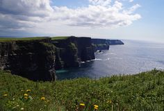 Cliffs of Moher Ireland - Babetts Bildergalerie - The photo was taken on my trip to Ireland. Cliffs of Moher Cliffs sea Quiet romance Ireland Canvas Print Cliffs Of Moher, Floating Frame, Stretched Canvas Prints, Canvas Artwork, Land Scape, Wood Print, Illustration, Water, Outdoor