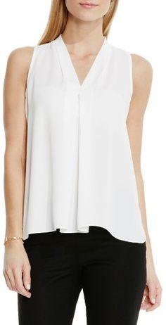 Women's Vince Camuto Sleeveless V-Neck Blouse  Easy Breazy- I love shirts like this!