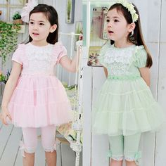 2013 summer korean childrens clothing baby girls lace stitching sasa sleeved dress child 6148 only $10.48USD a Piece