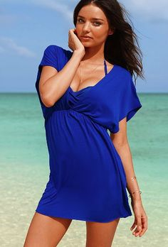 Cute bathing suit cover-up tunic from Victoria's Secret! I have this in black and white - a must have!