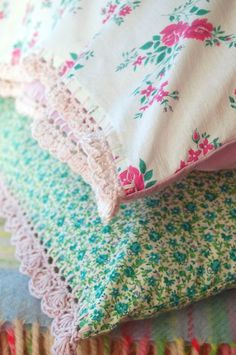 @ Rosehip: pretty new pillowcases with crochet edging