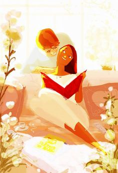 This is awesome :) Family Love guided by flowers, reading and warmth .. by Pascal Campion Art