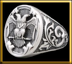 DOUBLE HEADED EAGLE 925 STERLING SILVER MENS RING S 10