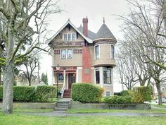 Victorian towers and three stories! The windows aren't so big, but I love this old fashioned design!