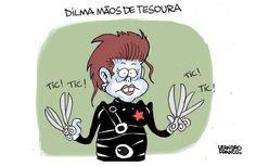 Dilma mãos de tesoura