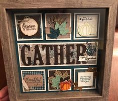 This Fall Sampler was created with several products that are featured in the new Stampin' Up! You can get your supplies starting on Shadow Box Kunst, Shadow Box Art, Shadow Box Frames, Fall Cards, Winter Cards, Halloween Shadow Box, Box Frame Art, Collage Frames, Frames Decor
