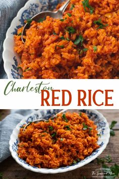 Red Rice is a classic Lowcountry side dish that's made by cooking long grain white rice in the oven with bacon, onion, garlic and tomato paste. The end result is tender, fluffy rice with rich tomato flavor, a touch of sweetness and a hint of smokiness. Rice In The Microwave, Rice In The Oven, Rice Recipes, Side Dish Recipes, Cooking Recipes, Chicken Recipes, Appetizer Salads, Appetizer Recipes, Appetizers