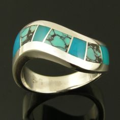 Sterling silver ring with spiderweb