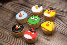 Angry birds cupcakes! Geek Cake Shop by Cakehead Loves, via Flickr
