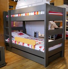 Single bed / triple bunk / contemporary / child's unisex - DOMINIQUE : 196 90 I BB - MATHY BY BOLS