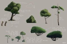 ArtStation - Absolver stylized vegetation sketches, Michel Donze