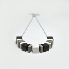 Necklace of concrete. Hanging cement of fifteen by MicaRicaShop