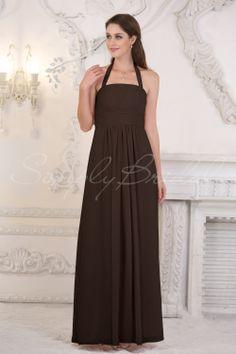 #85196 - Floor-Length A-Line Empire Dress with Straps - Bridesmaid Dress - Simply Bridal