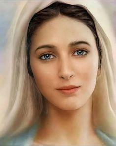 Jesus And Mary Pictures, Mother Mary Images, Images Of Mary, Mary And Jesus, Blessed Mother Mary, Blessed Virgin Mary, Religious Images, Religious Art, Virgin Mary Art