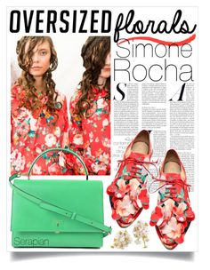 """Simone Rocha floral"" by ailav9 ❤ liked on Polyvore featuring Simone Rocha and Serapian"