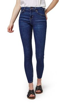 Topshop 'Jamie' High Rise Ankle Skinny Jeans (Petite) available at #Nordstrom