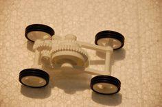3D printed toy car.