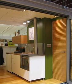 interior of treehugger shipping container house