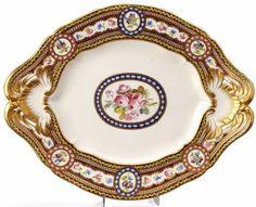 MARIE ANTOINETTE'S SEVRES SERVICE | DINNER SERVICE OF MARIE ANTOINETTE~ TERRINE UNDER-PLATE~ Royal ...