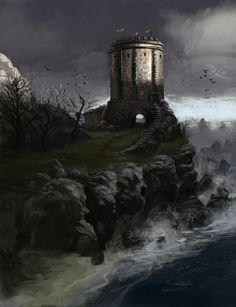 "The Tower of House Baelish by ~PHATandy on deviantART. ""And there it stands, miserable as it is. My ancestral home. It has no name, I fear. A great lord's seat ought to have a name, wouldn't you agree? Winterfell, the Eyrie, Riverrun, those are castles. Lord of Harrenhal now, that has a sweet ring to it, but what was I before? Lord of Sheepshit and Master of the Drearfort? It lacks a certain something."""