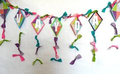 Kite Banner for a birthday party baby shower bridal by PartyFetti