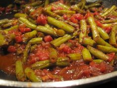 GREEN BEANS WITH MINCED MEAT - Recipe and Preparation ~  Ingredients: ~ 1 onion 3 carrots 2 peppers 2 tomatoes 400 gr. green beans 400 gr. minced meat spices 3 eggs~~