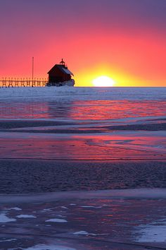 Bucket list. Never expected this from Grand Haven, Michigan @DiscoverAmerica