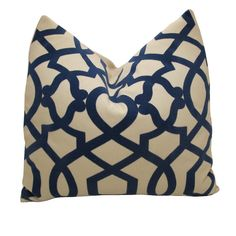 Free US ShippingDecorative Designer Pillow Cover Blue by nenavon, $42.00-bench