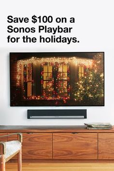 Get sound for your movies, games and music this holiday season with the SONOS Playbar. Boasting huge waves of epic, full-theater sound, the SONOS Playbar is a home theater soundbar and streaming music speaker in one. For a limited time only save $100. Offer is valid until November 27, 2017 or while supplies last.