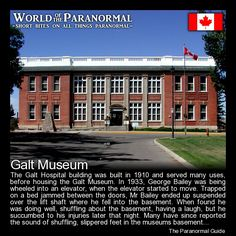 Galt Museum   - Lethbridge, Alberta, Canada   - 'World of the Paranormal' are short bite sized posts covering paranormal locations, events, personalities and objects from all across the globe.   Follow The Paranormal Guide at: www.theparanormalguide.com/blog