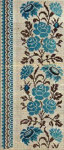 Gallery.ru / Фото #92 - Червоне і чорне - widpuckau Cross Stitch Borders, Cross Stitch Flowers, Cross Stitch Designs, Cross Stitch Patterns, Cross Stitch Embroidery, Hand Embroidery, Embroidery Designs, Cross Stitch Beginner, Rug Hooking Designs