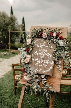 Top 11 Most Glamorous BOHO Wedding Ideas wooden wedding sign with sage leaves and burgndy flowers country wedding decors. Top 11 Most Glamorous BOHO Wedding Ideas wooden wedding sign with sage leaves and burgndy flowers country wedding decors. Country Wedding Decorations, Altar Decorations, Centerpiece Ideas, Wedding Ceremony Decorations, Ceremony Backdrop, Wedding Venues, Western Wedding Centerpieces, Wedding Backdrops, Wedding Ceremonies